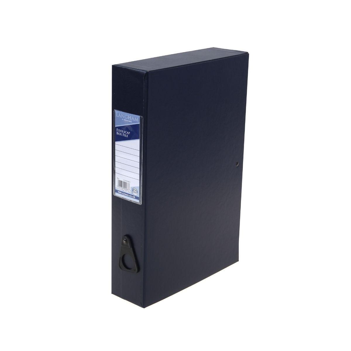 Visualizza prodotto: Ryman Langham Box File Foolscap Blue, Blue