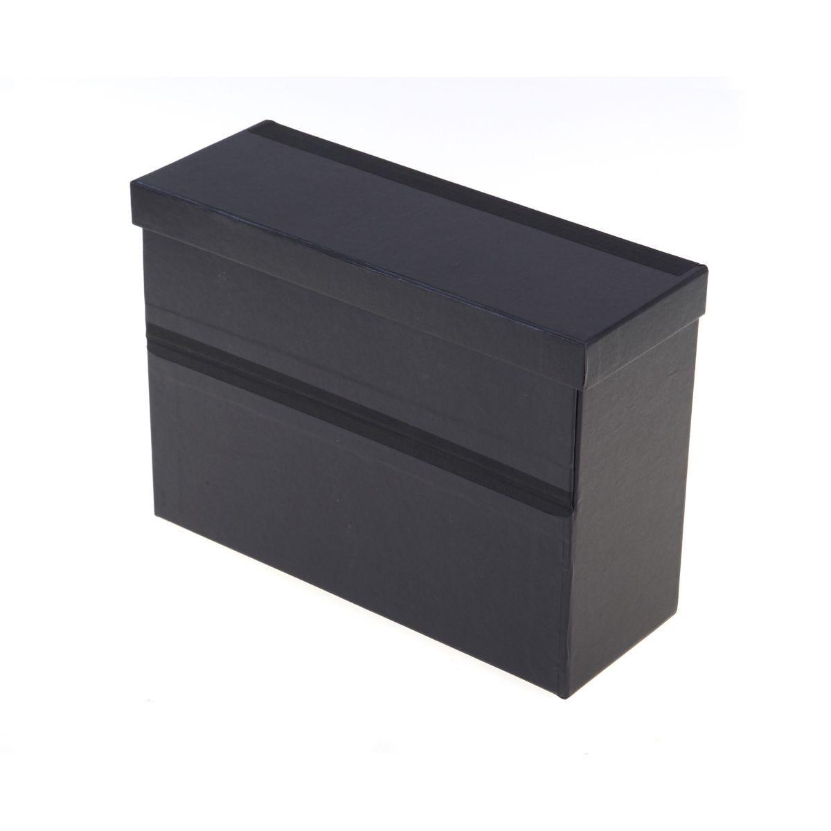 Office Supplies Ryman  Drop Side Filing Box Foolscap H260xW370xD135mm, Black