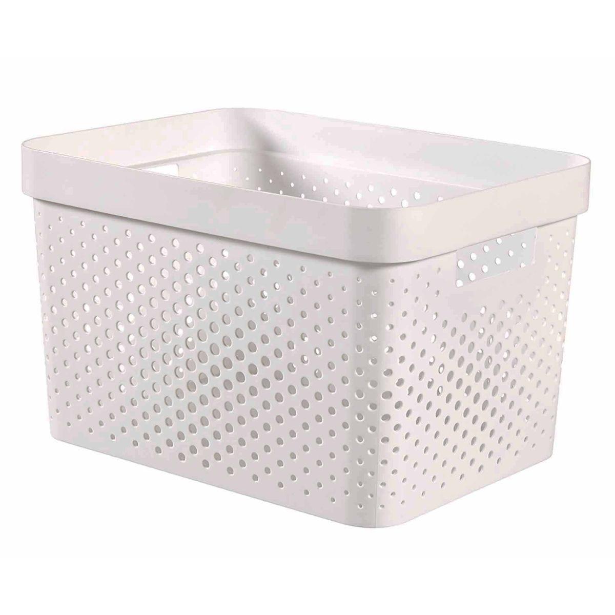 Curver Infinity Storage Basket 17 Litre, White