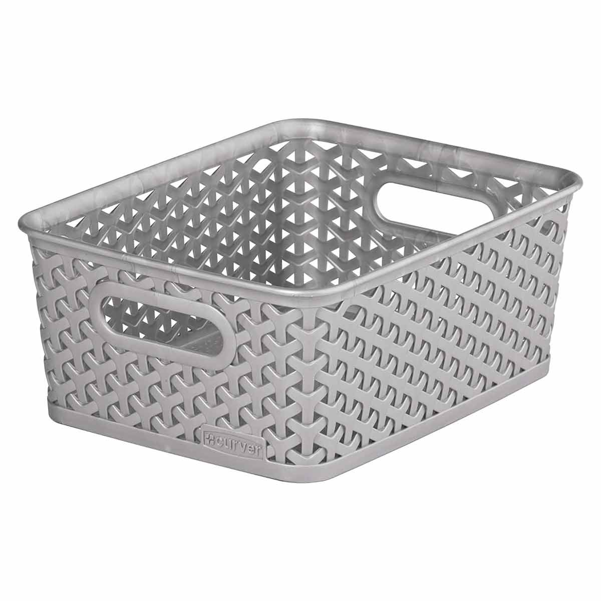 Curver My Style Storage Basket 8 Litres, Grey