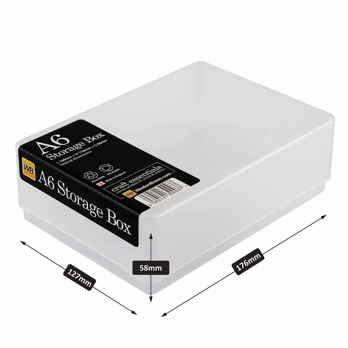 Click to view product details and reviews for Weston Boxes A6 Storage Box.