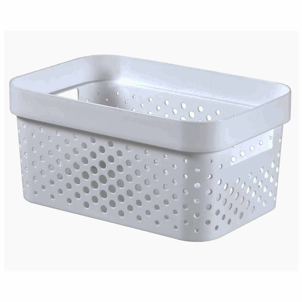 Curver Infinity Recycled Storage Basket 4.5 Litre, White