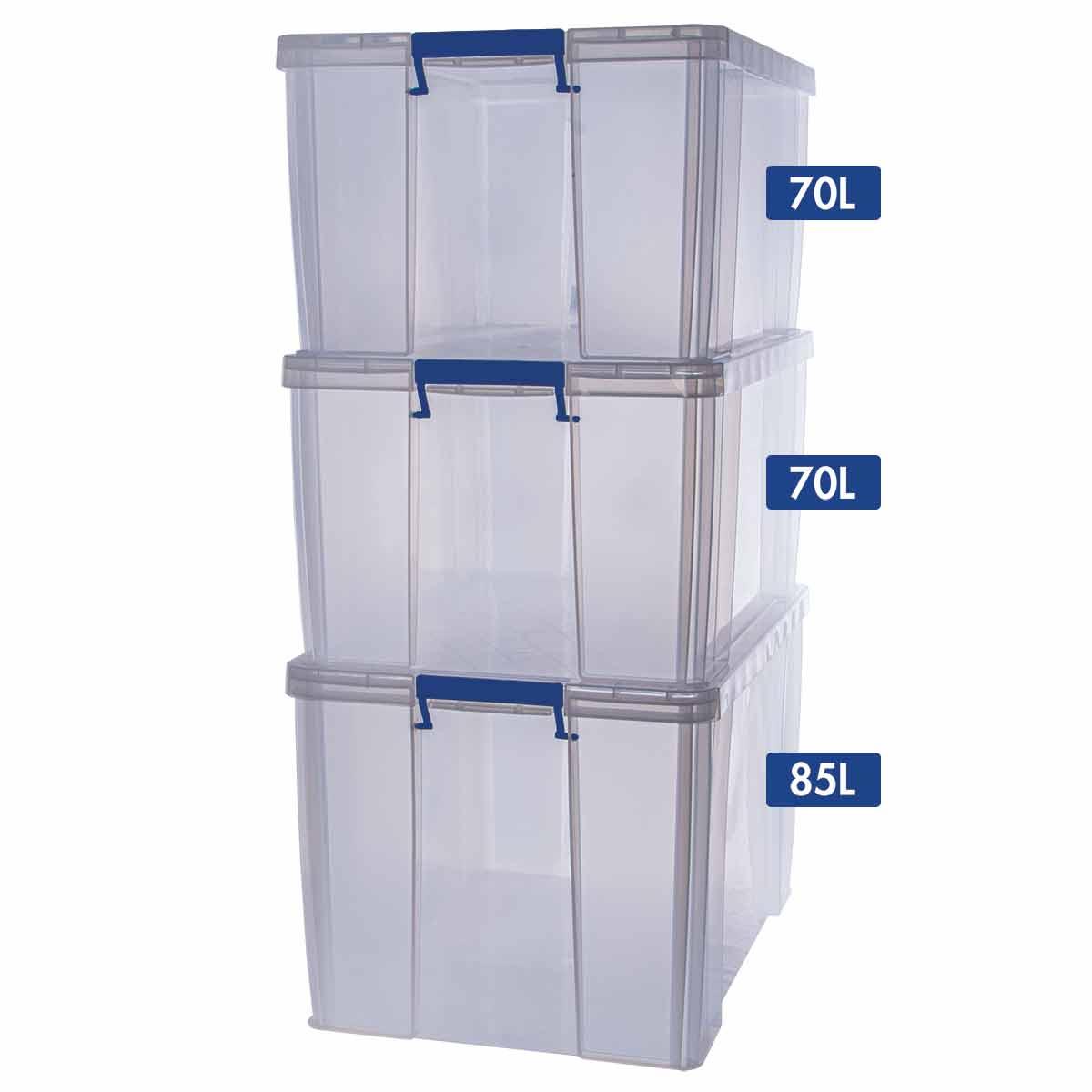 Image of ProStore Storage Box Bonus Pack 2 225L Capacity, Clear