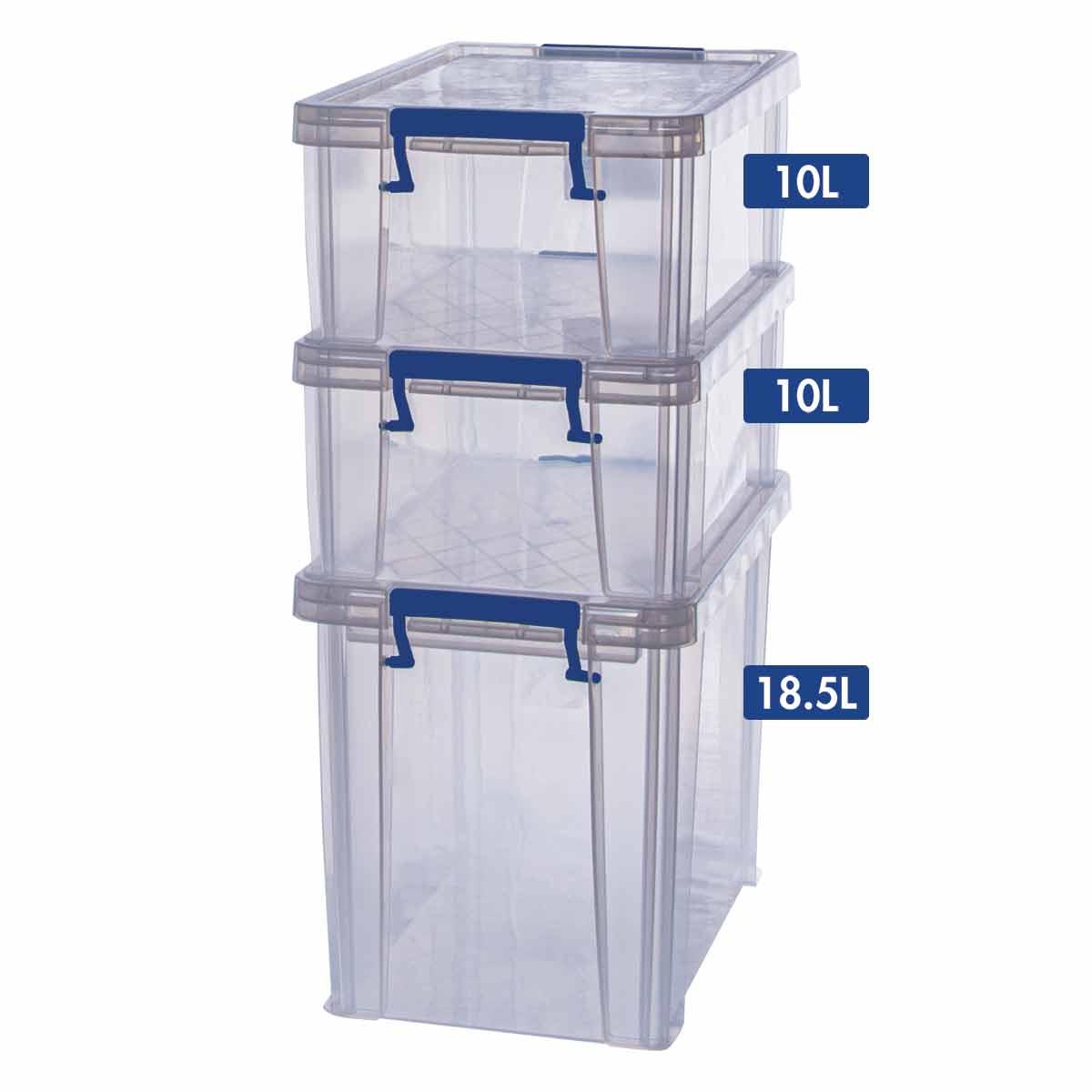 Image of ProStore Storage Box Bonus Pack 4 38.5L Capacity, Clear