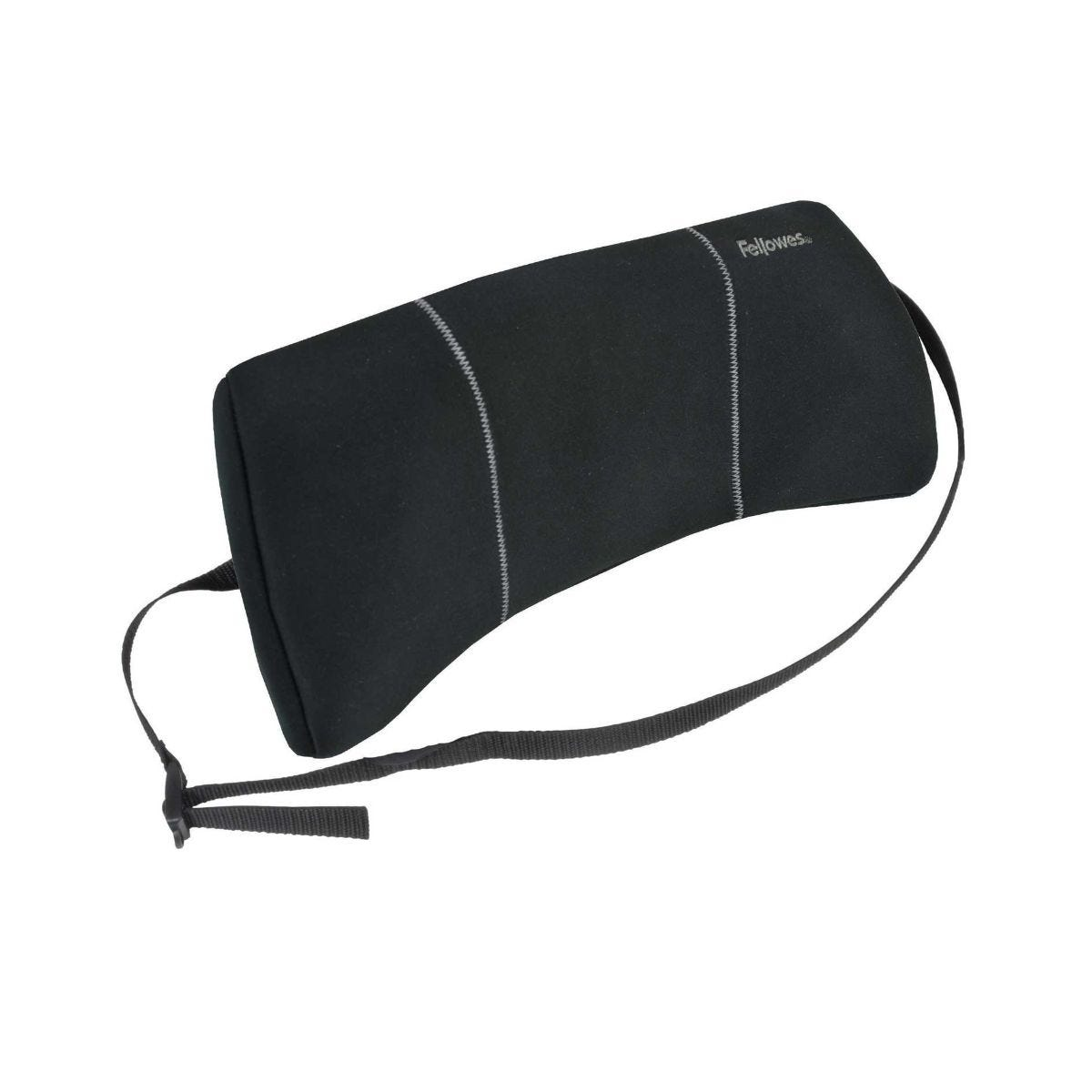 Image of Fellowes Portable Lumbar Back Support, Black
