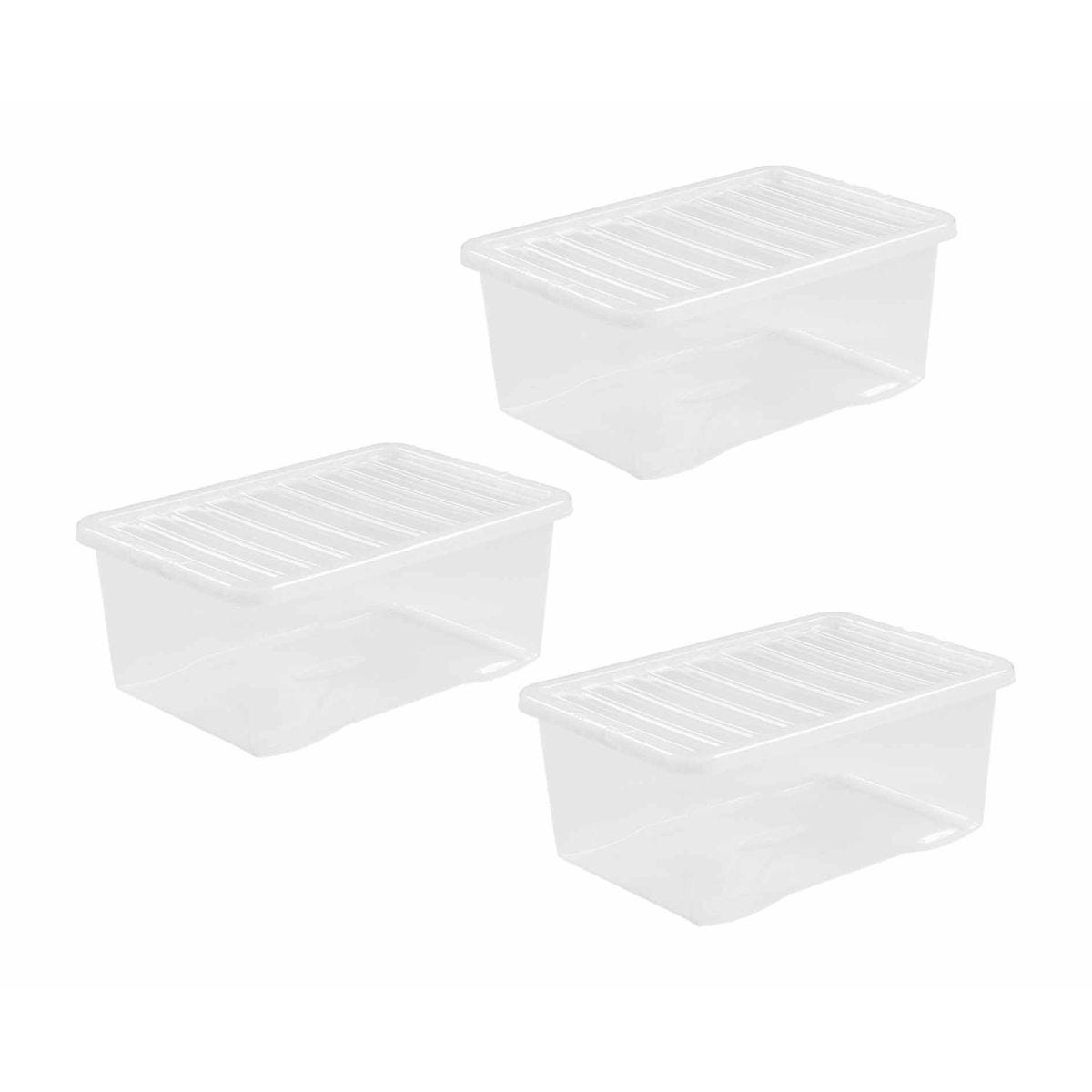 Click to view product details and reviews for Wham Boxes 45 Litre Pack Of 3 Clear Clear.