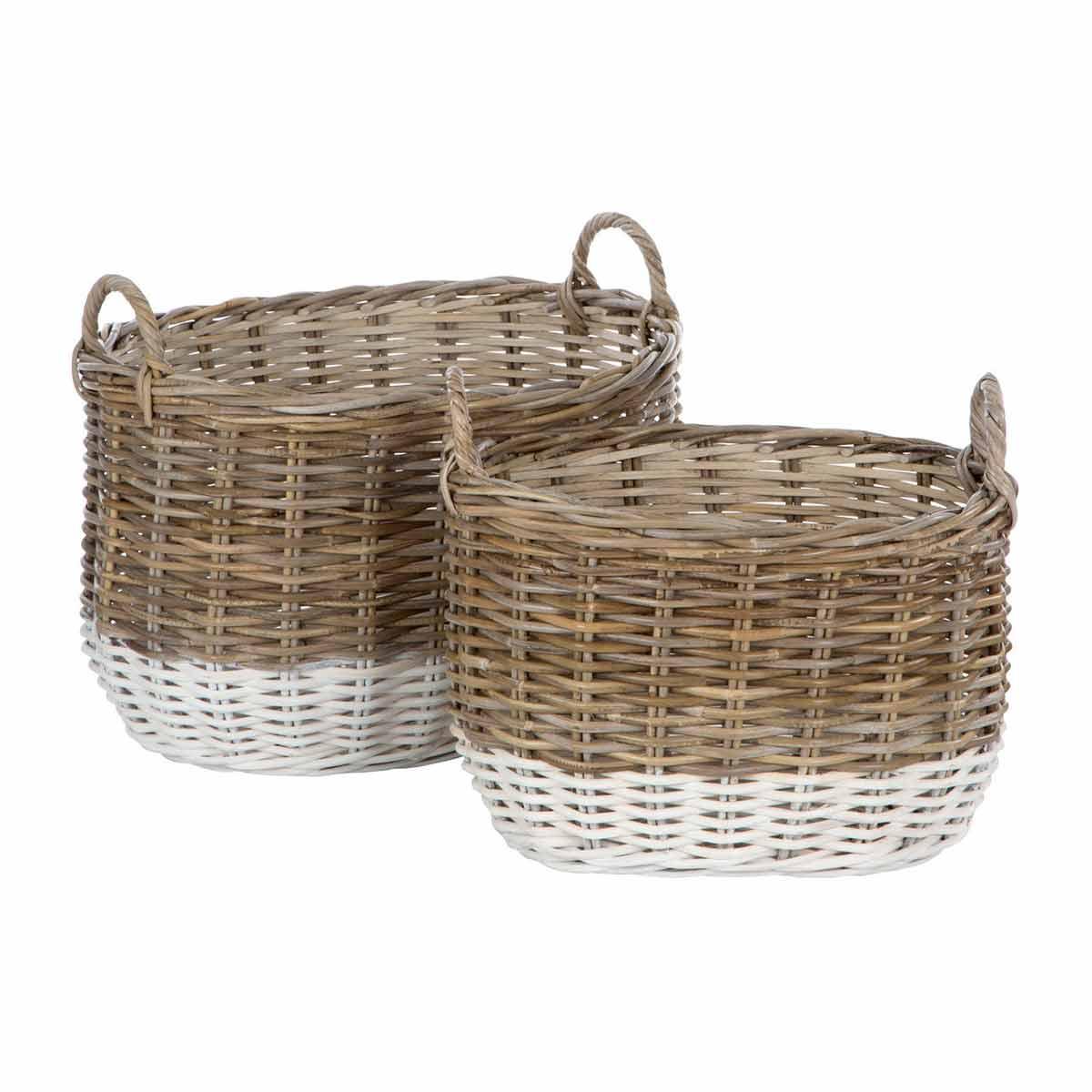 Hampstead Oval Storage Baskets Set of 2
