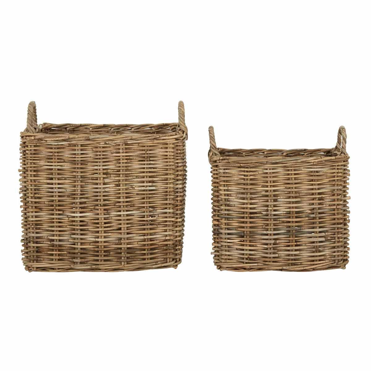 Argento Storage Baskets Grey Set of 2, Grey