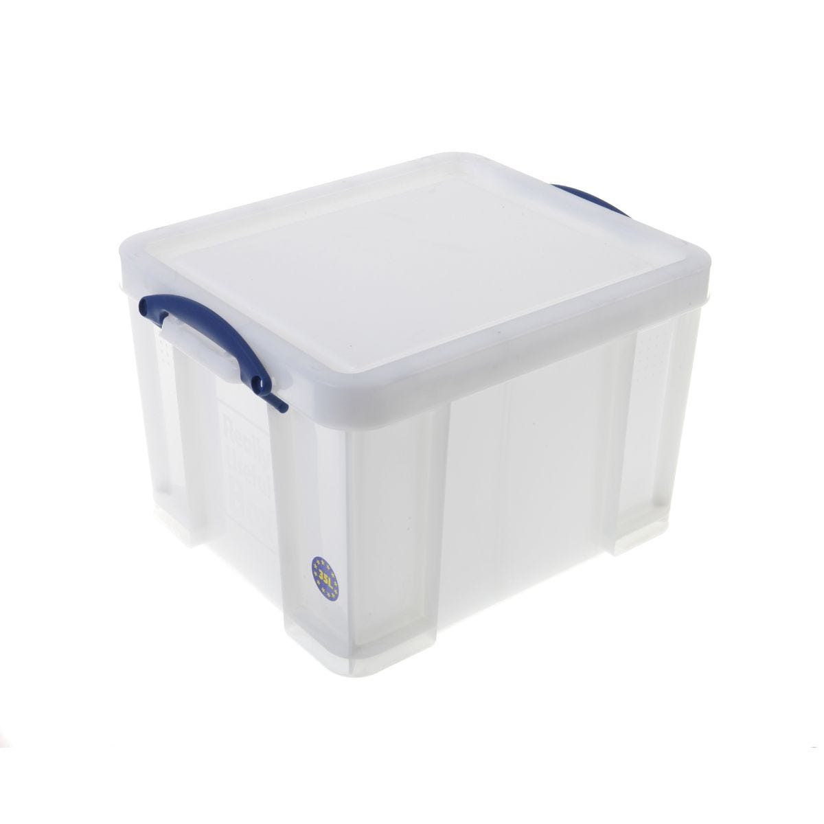 Office Supplies Really Useful Storage Box 35 Litre Extra Strong, White
