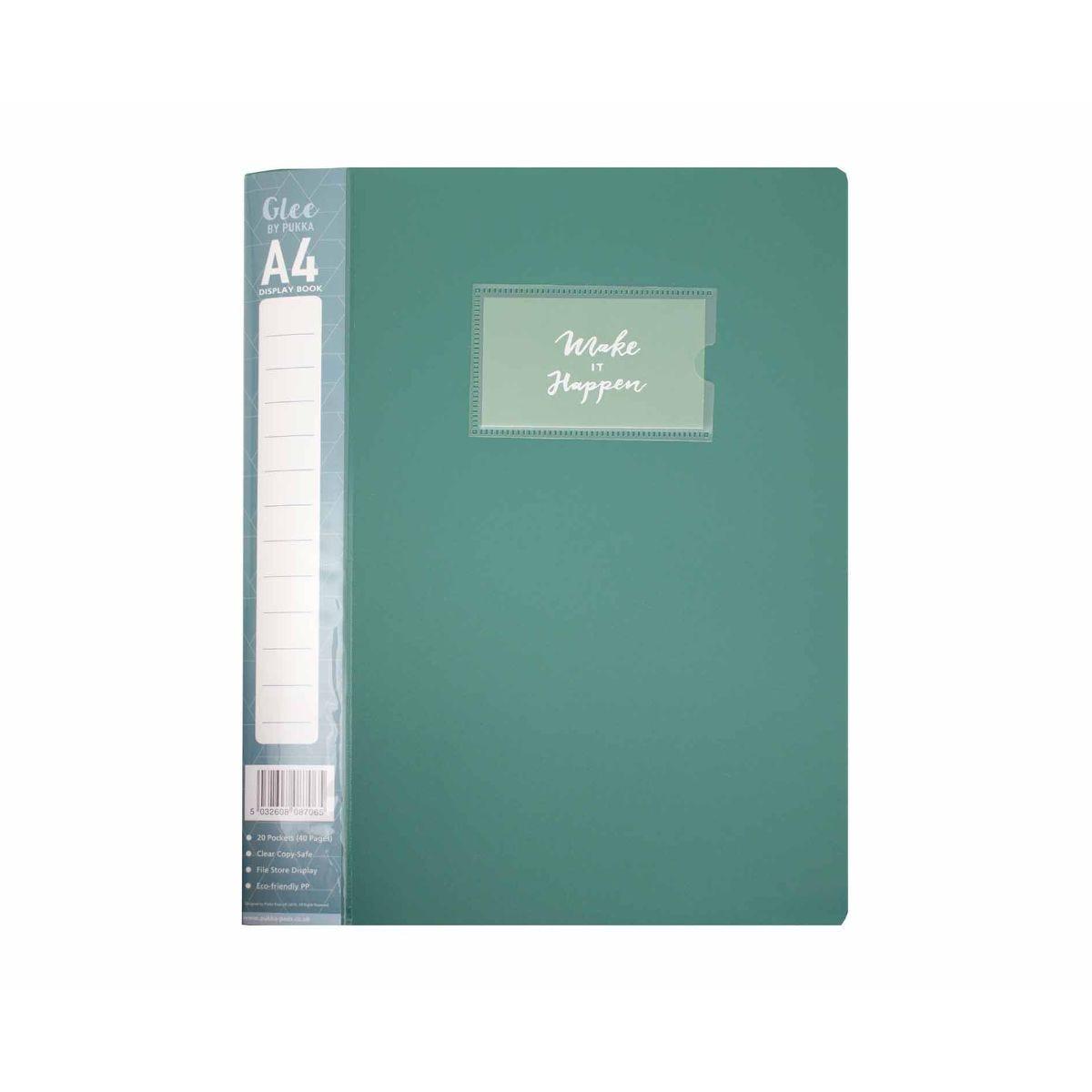 1 Pack Hard Cover Presentation Folder Folio 80 Views A3 Display Book 40 Pockets