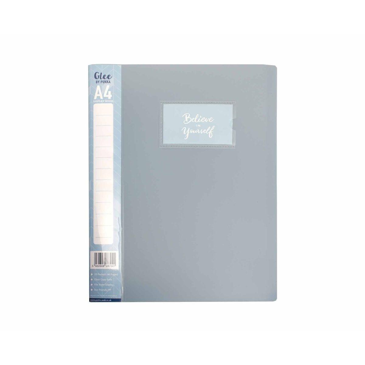H/&S 40 Pockets A4 Presentation Folder Ring Binder Document File Display Book...