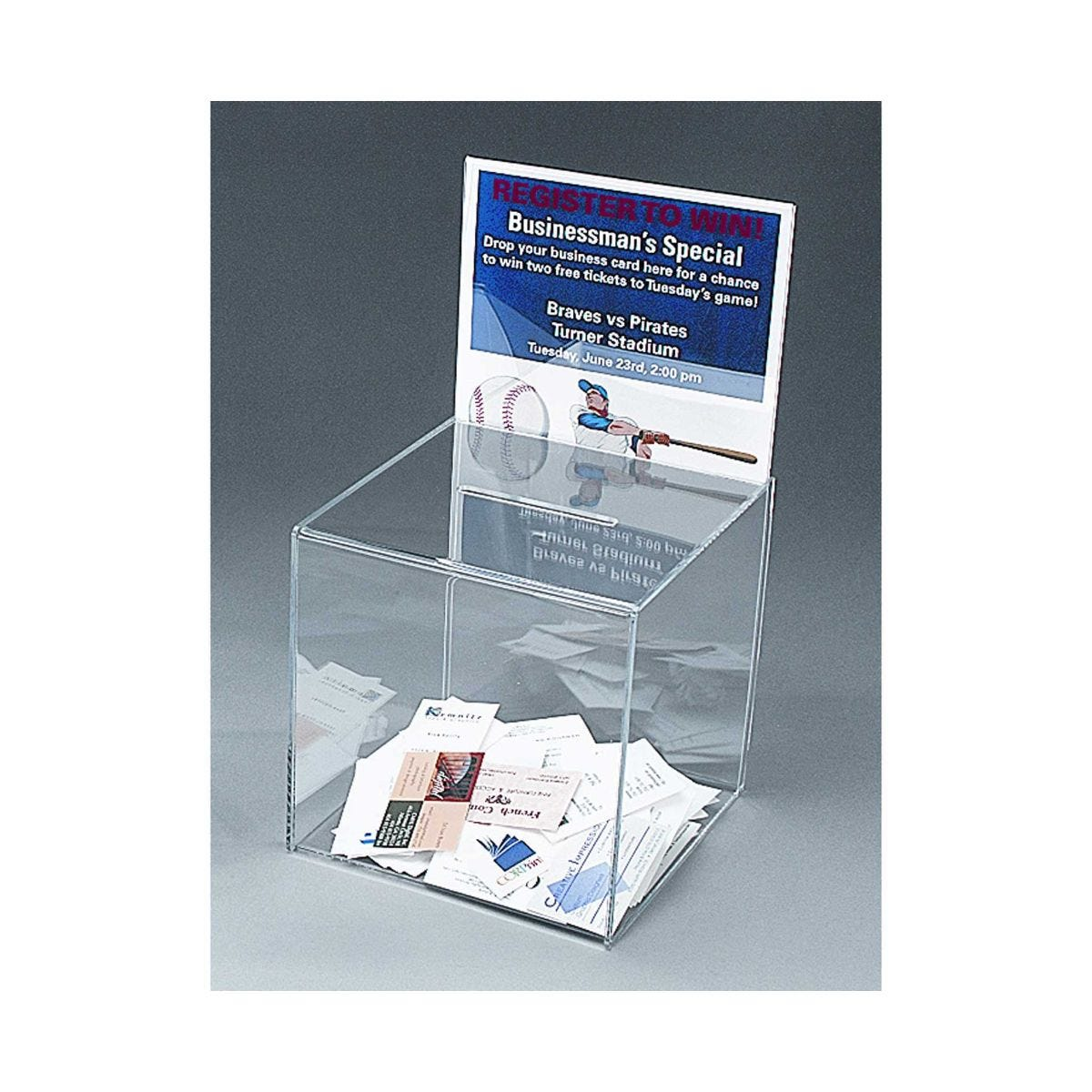 drop your business card to win template 28 images deflecto large