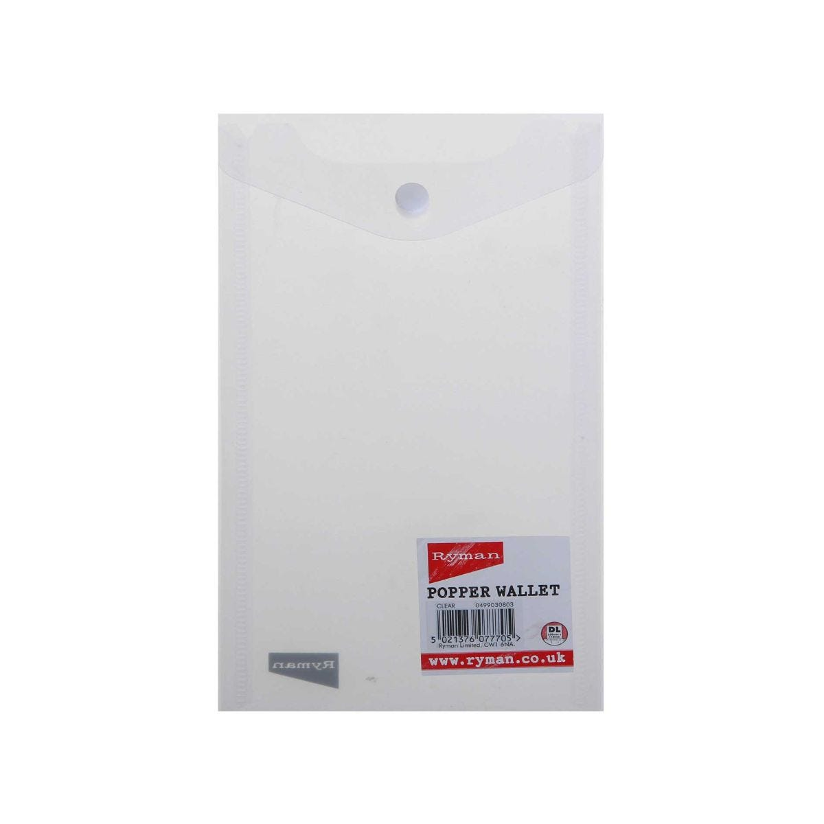 Click to view product details and reviews for Ryman Popper File Dl Portrait Pack Of 5 Clear.