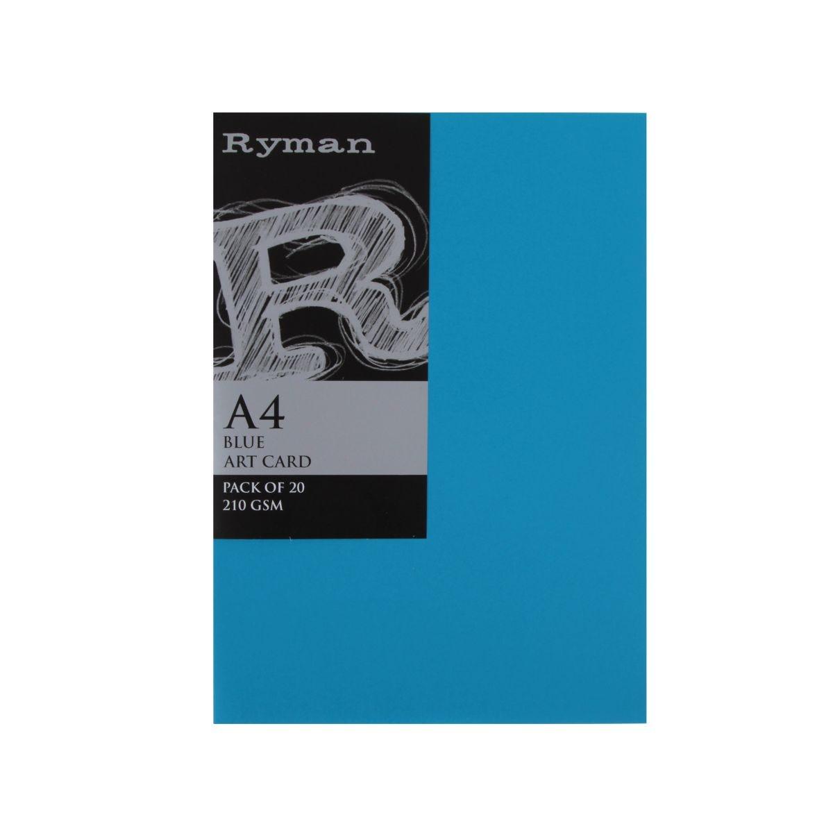 Ryman Artcard A4 210gsm Pack of 20, Blue