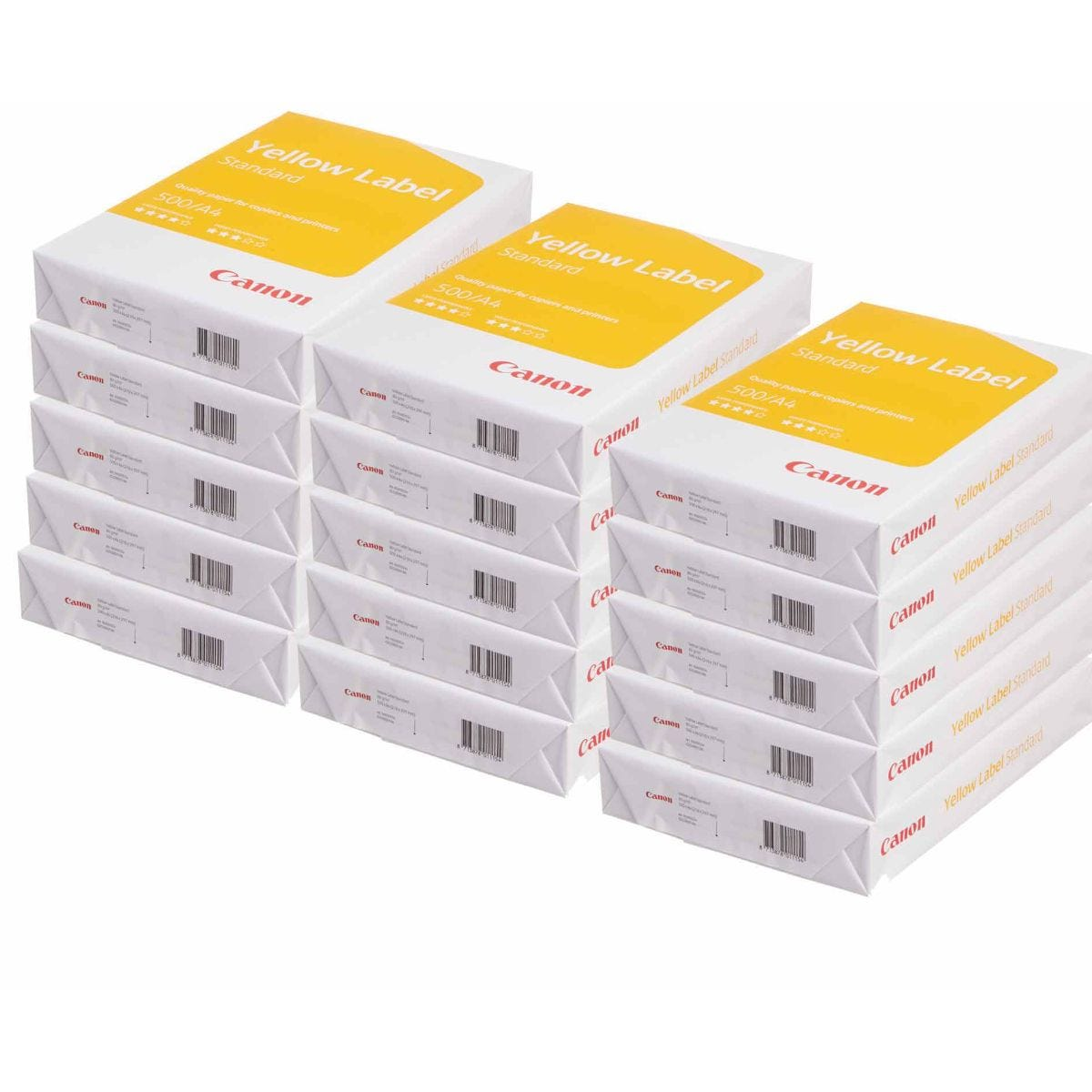 Canon Yellow Label Copier Paper A4 Pack of 15 Reams 80gsm