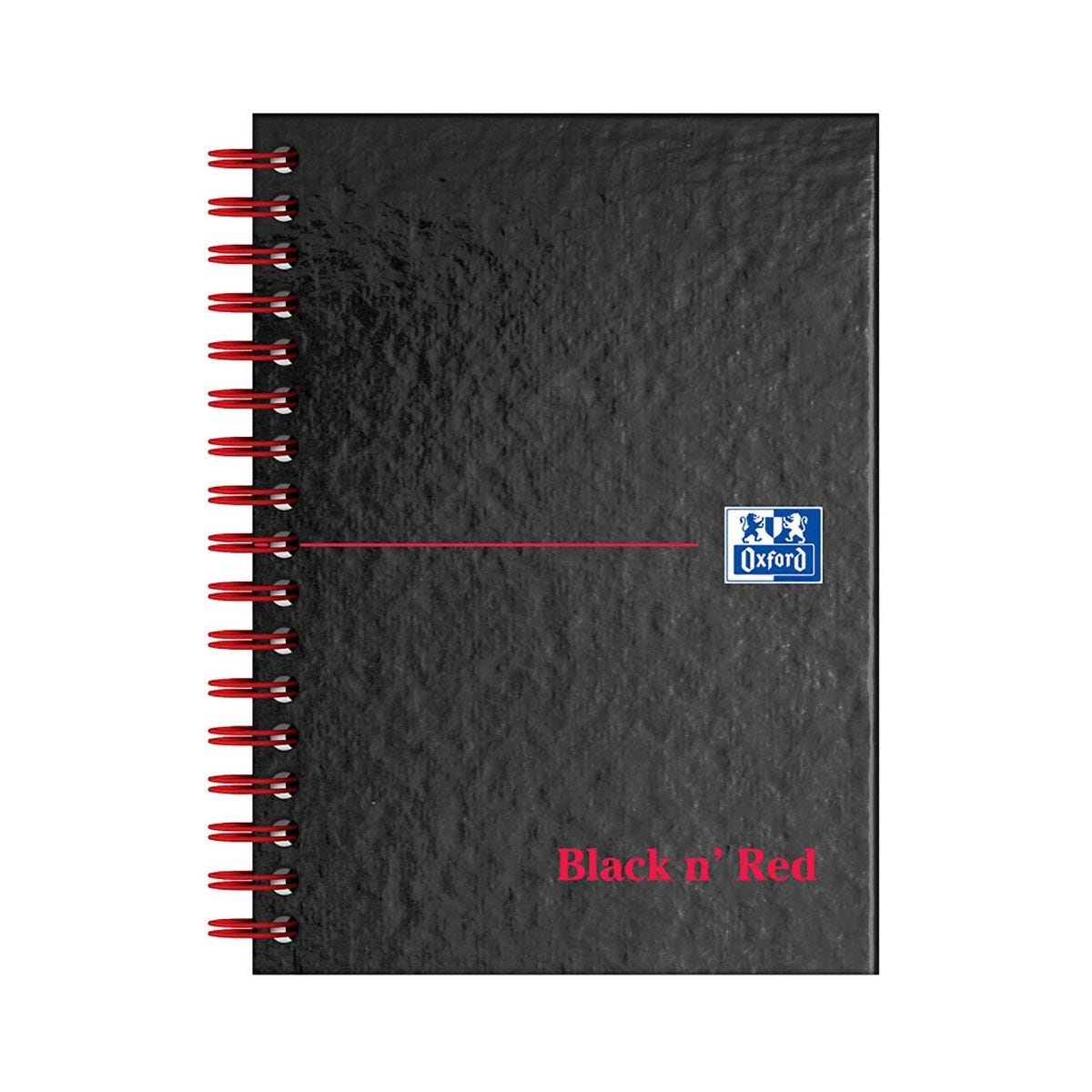Black n Red Twinwire Notebook Ruled And Perforations A6 140 Pages 90gsm