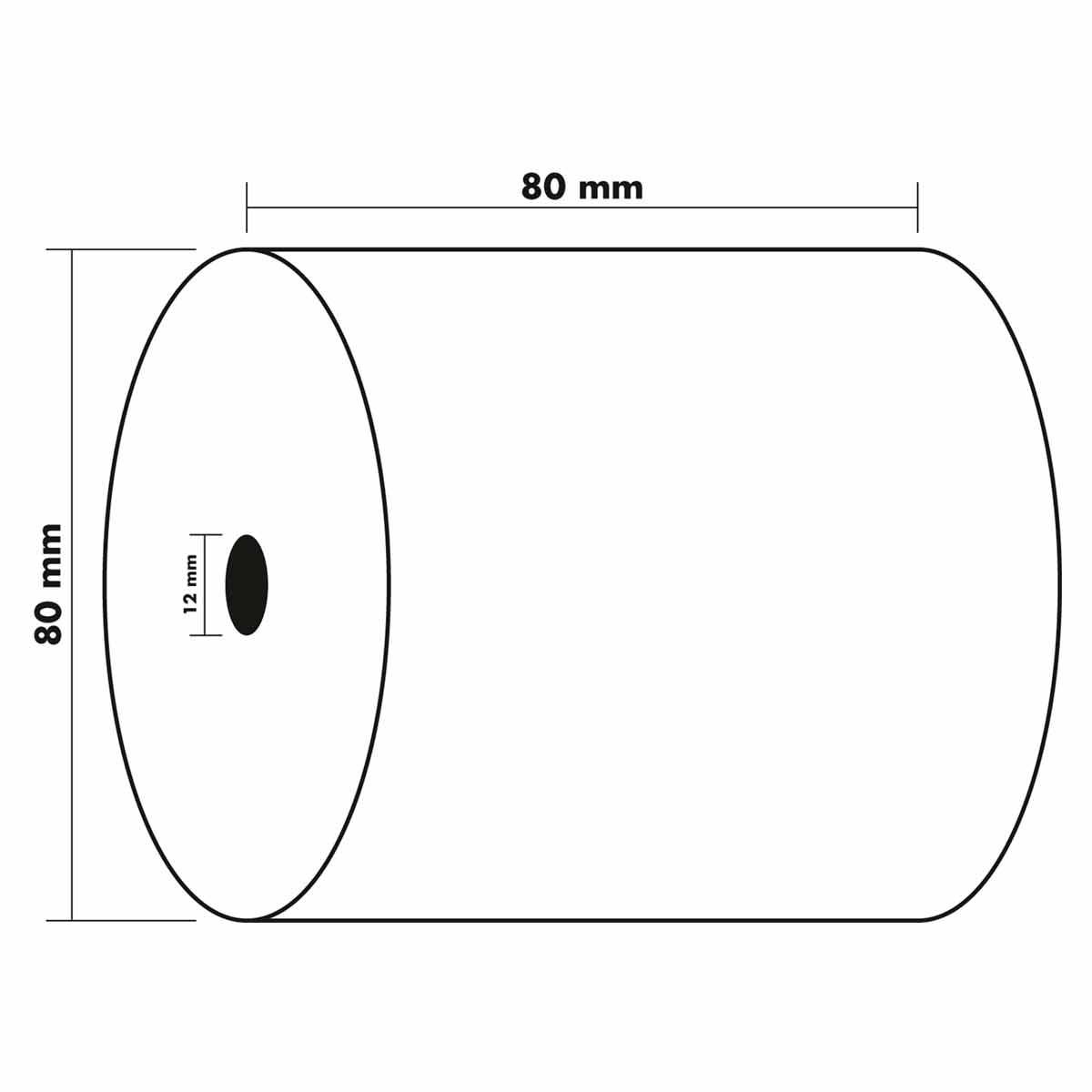 Exacompta Thermal Receipt Rolls 80x80x12mm 3 Packs of 10