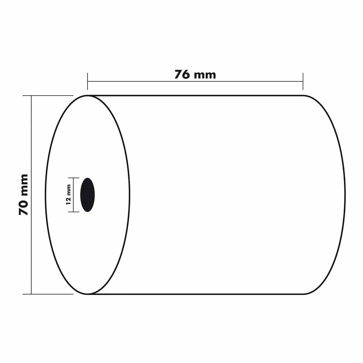 Exacompta Thermal Receipt Rolls 76x70x12mm 5 Packs of 10