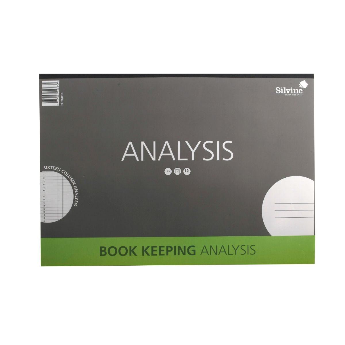 Silvine A4 Analysis Book A4A8 Free P/&P