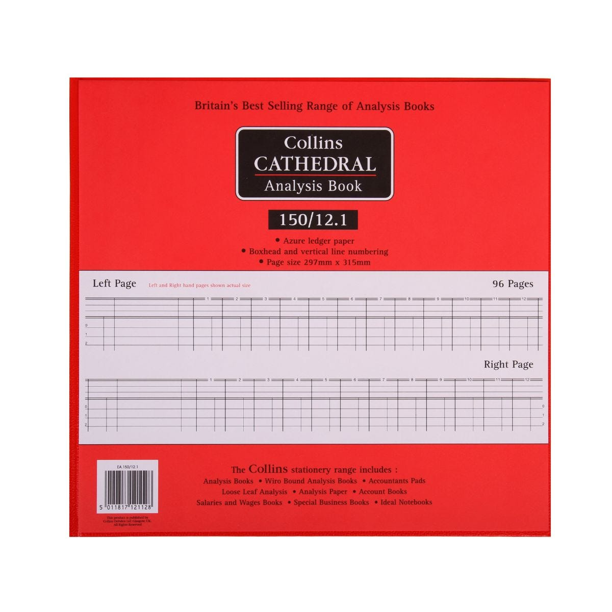 Office Supplies Collins Cathedral Analysis Book 150 Series 12 Cash Columns 150/12