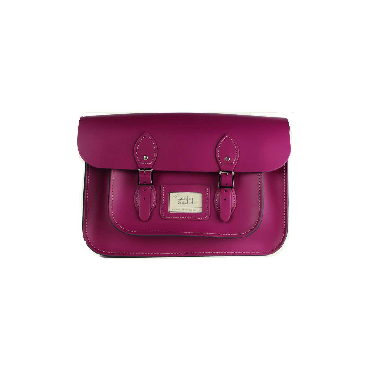 1bae4a7b06d Leather Satchel 14 Inch, Red