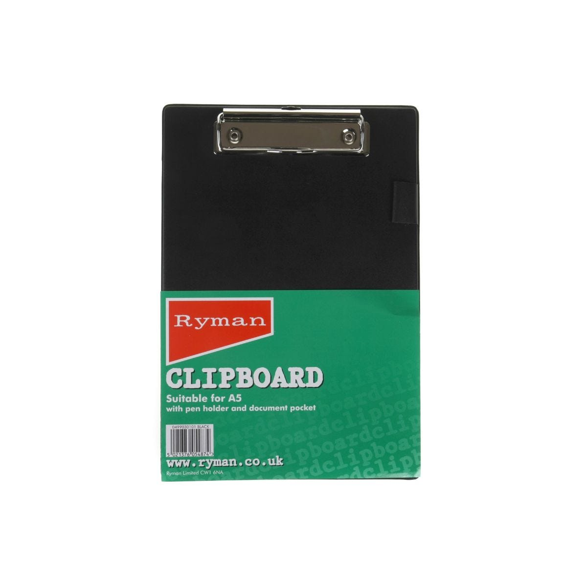 Click to view product details and reviews for Ryman Clipboard A5 Pvc Black.