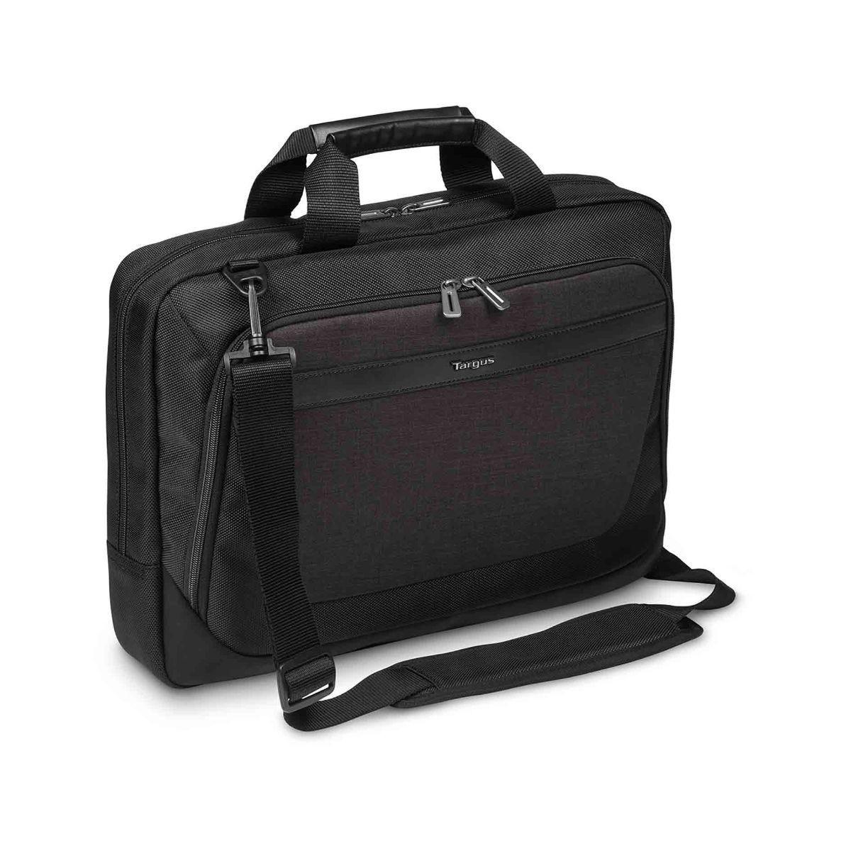 Image of Targus CitySmart Slimline Topload Laptop Case 15.6 Inch, Black/Grey