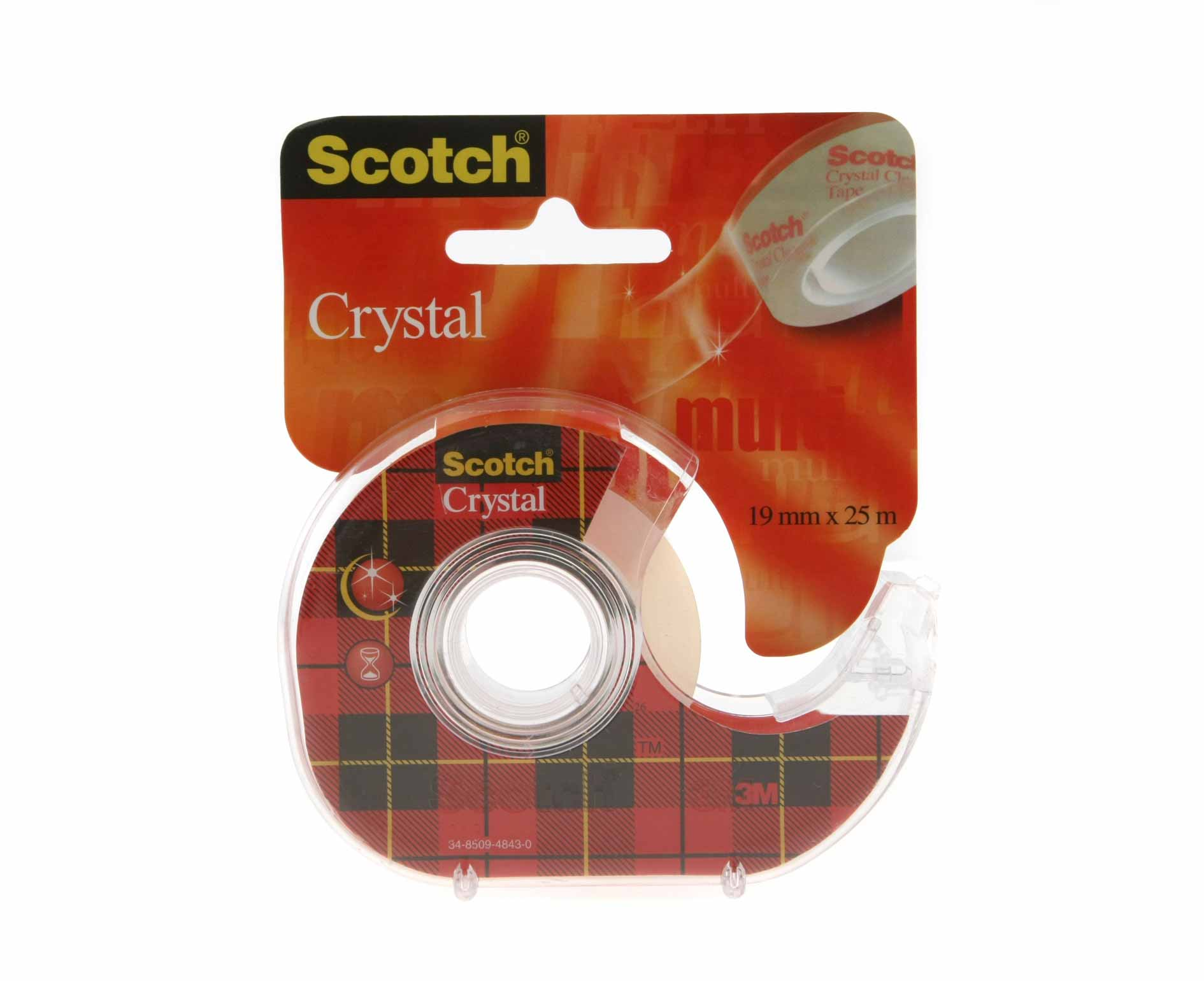 Image of 3M Scotch Crystal Clear Tape 19mm x 25m with Dispenser, Clear
