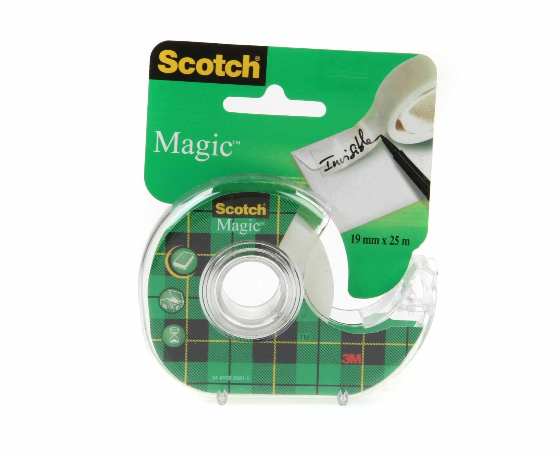 Image of 3M Scotch Magic Tape 19mm x 25m with Dispenser, Clear