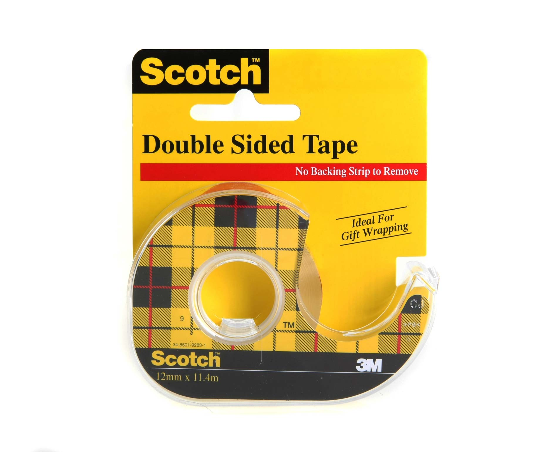 Image of 3M Scotch Double Sided Tape 12mm x 11.4m with Dispenser, Clear
