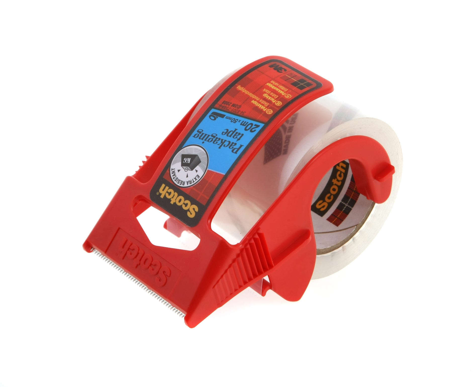 Image of 3M Scotch Mailing Tape 50mm x 20m with Dispenser, Clear