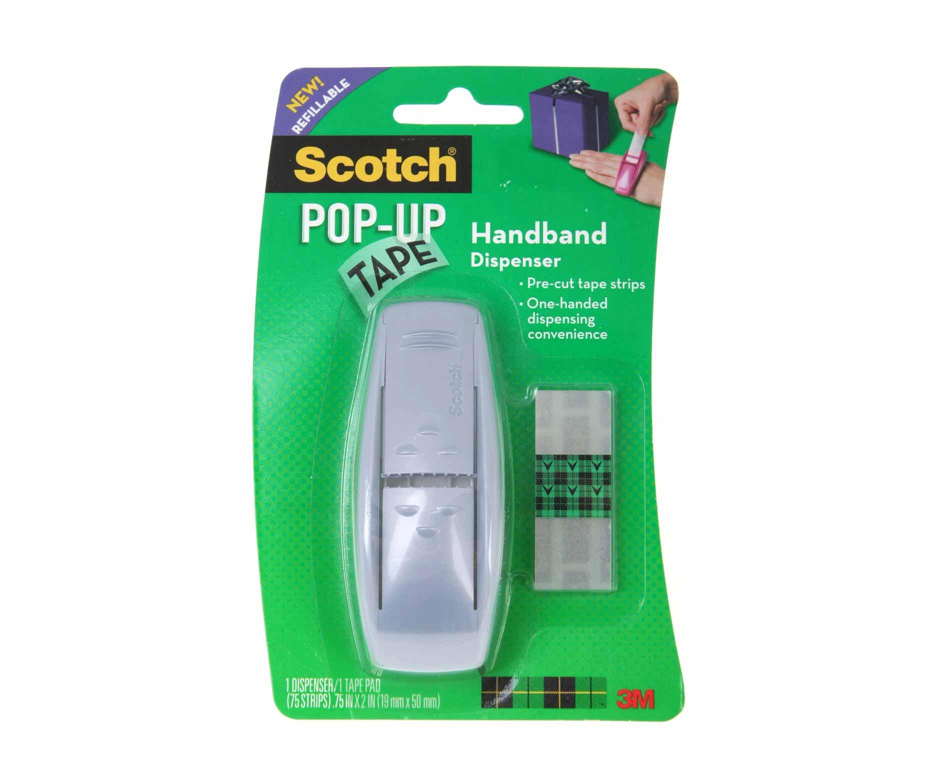 Image of 3M Scotch Pop Up Tape Dispenser 19 x 50mm 75 Strips, Blue
