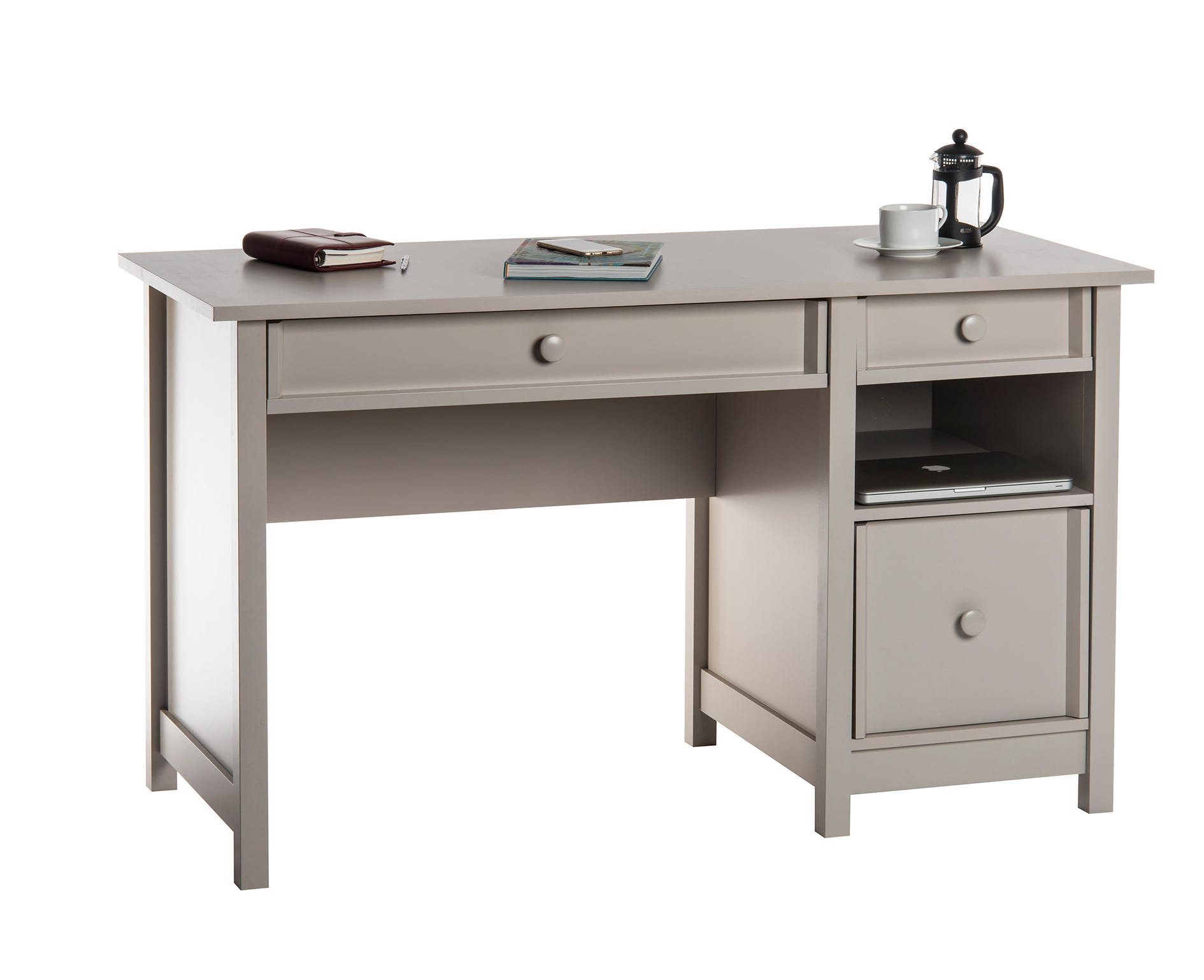 Teknik Office Cotswold Home Office Desk, Grey