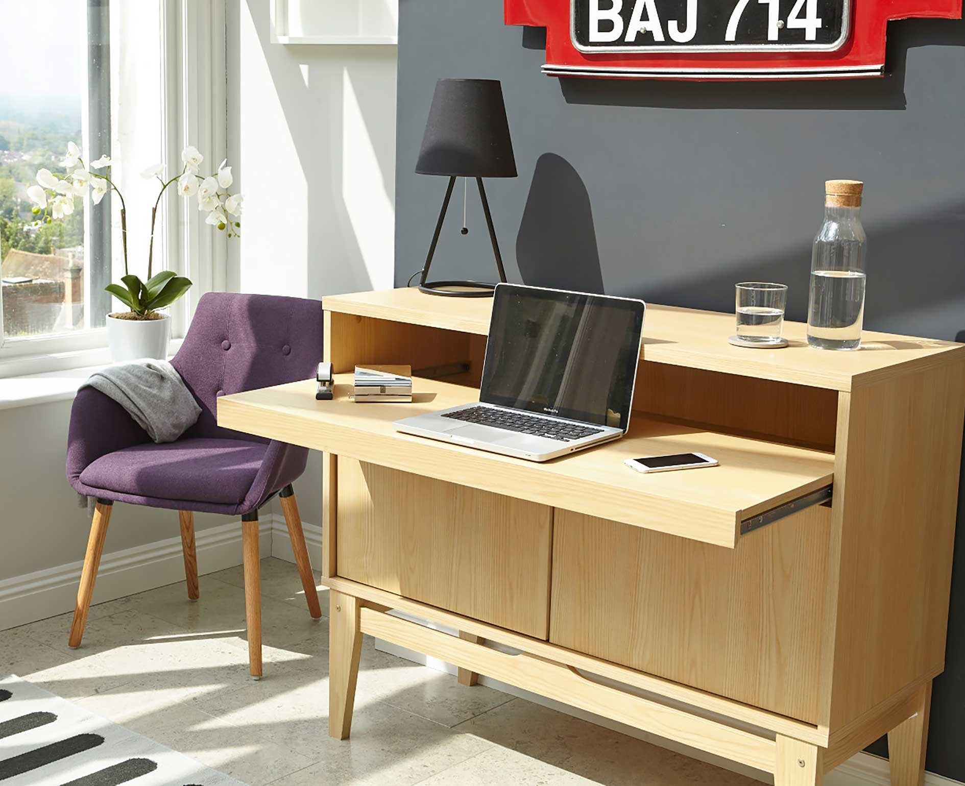 Contemporary Bureau Home Office Desk