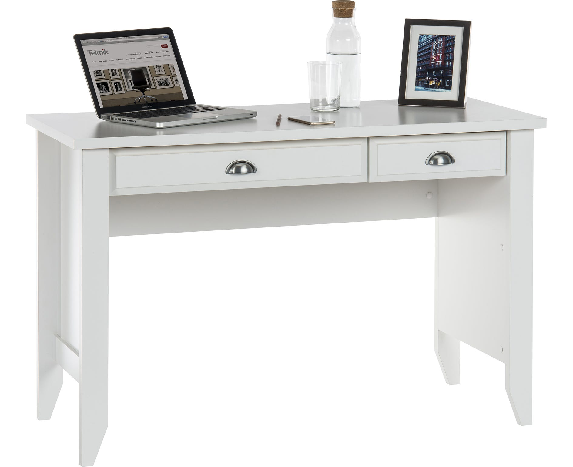 Home Office Laptop Desk, Soft White
