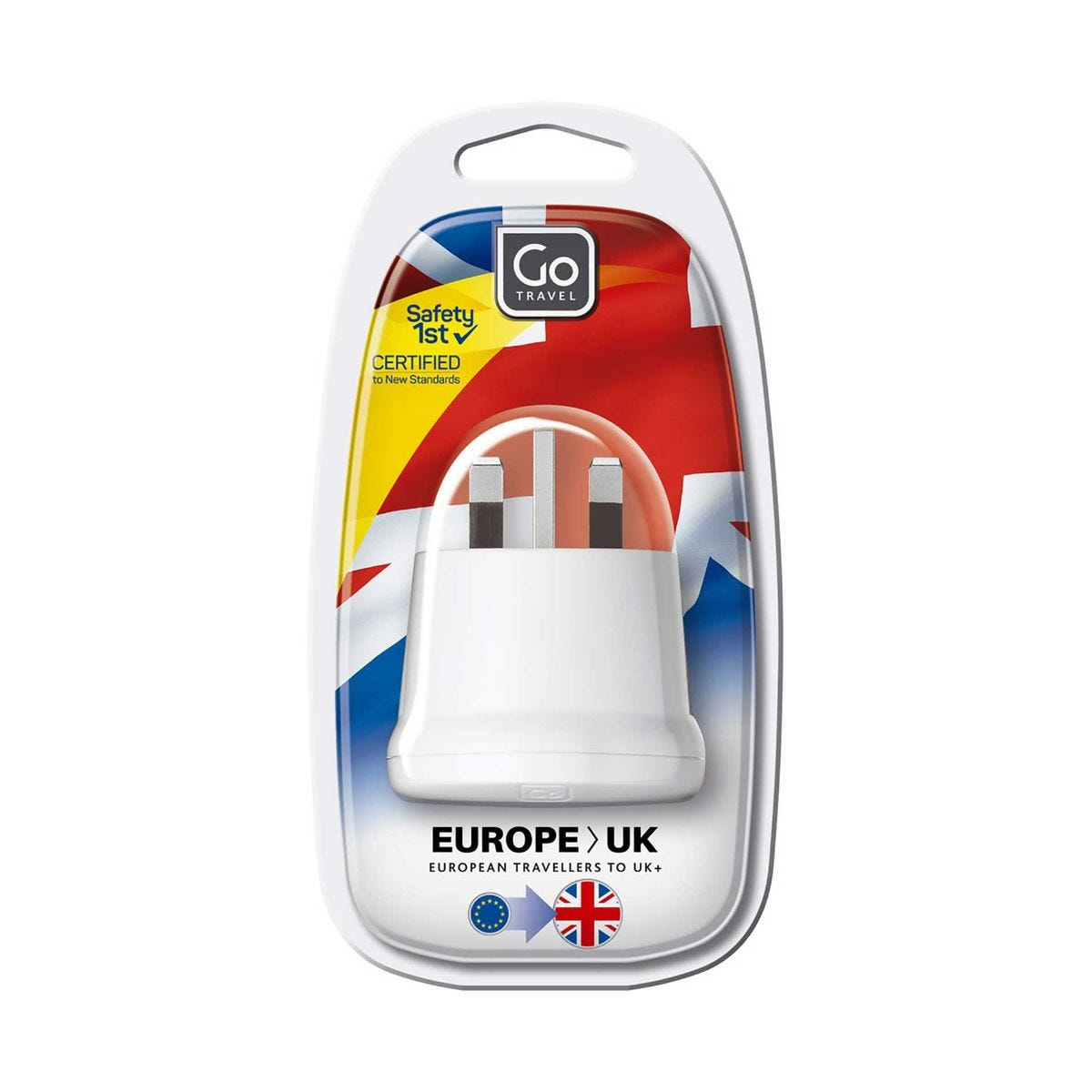 Image of Design Go Foreign Visitor to UK Adapter, White