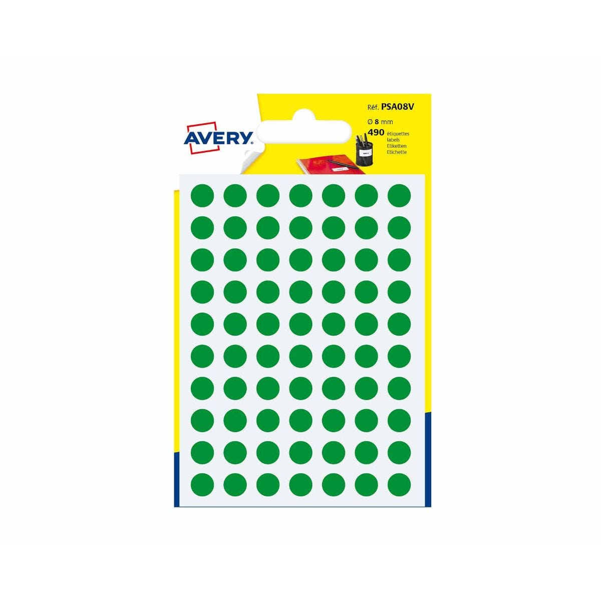 Pack of 490 8mm Black Sticky Dots Stickers Labels Arts Crafts
