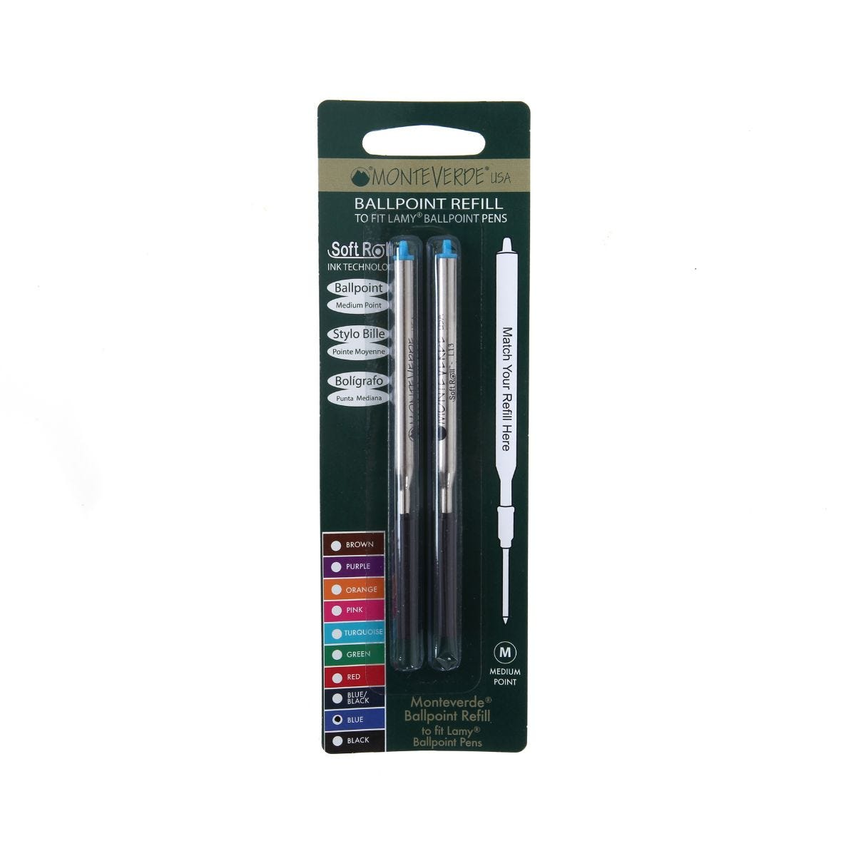 Lamy Ballpoint Compatible Refill Pack of 2, Blue.