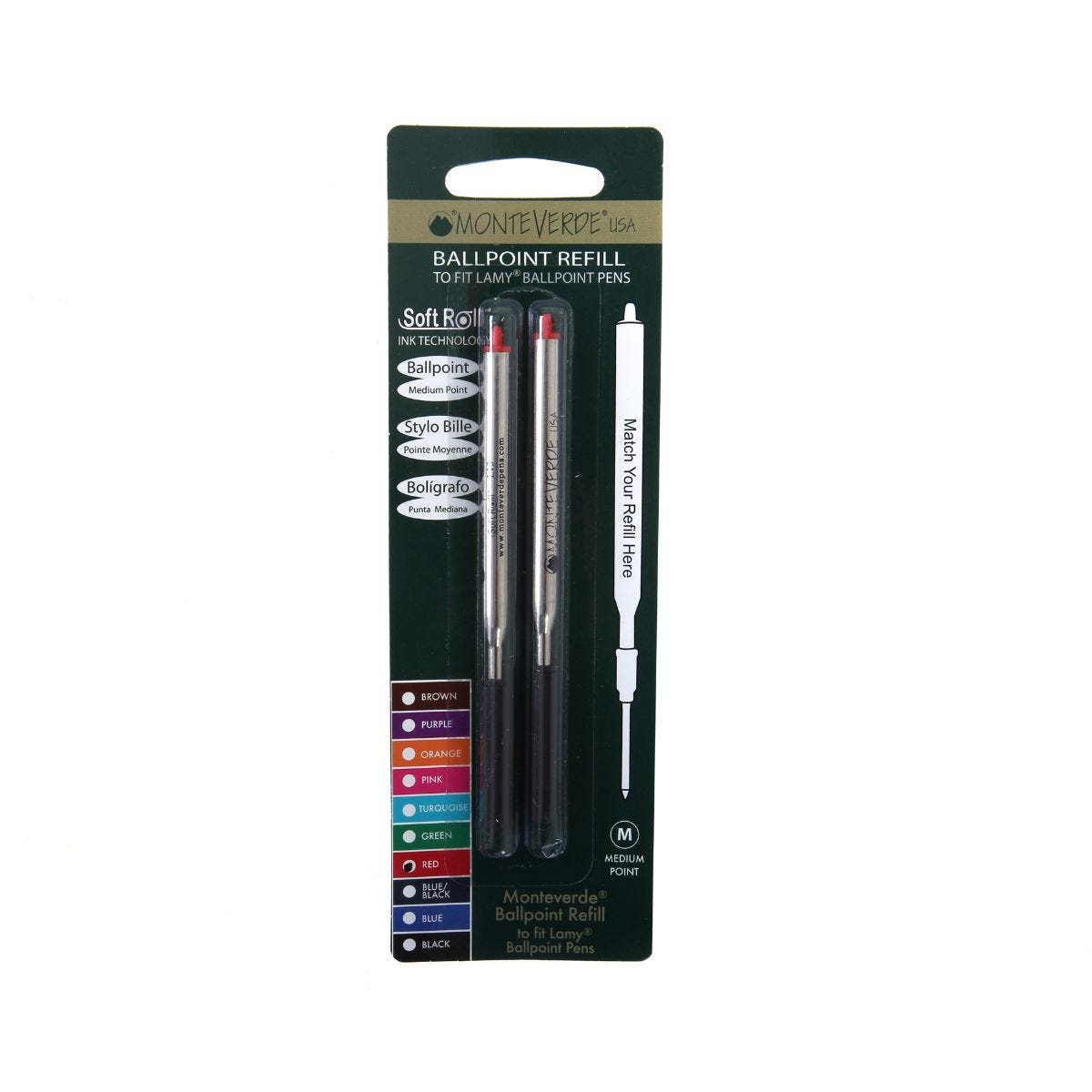Lamy Ballpoint Compatible Refill Pack of 2, Red.