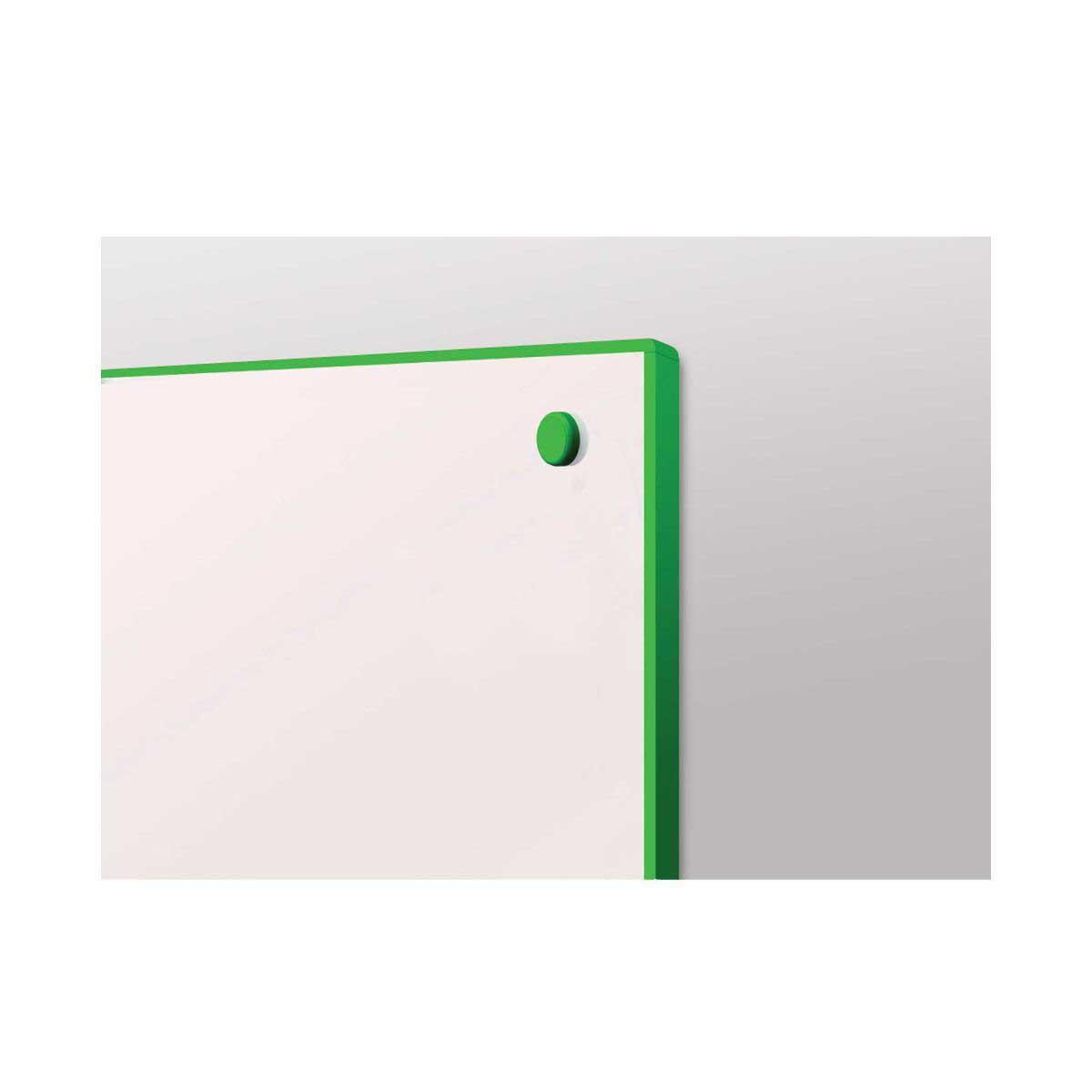 metroplan writeon coloured edge whiteboard 900 x 1200mm, green