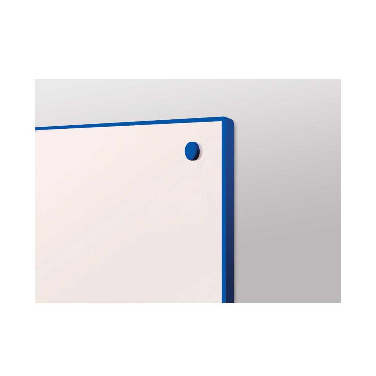 metroplan writeon coloured edge whiteboard 900 x 1200mm, blue