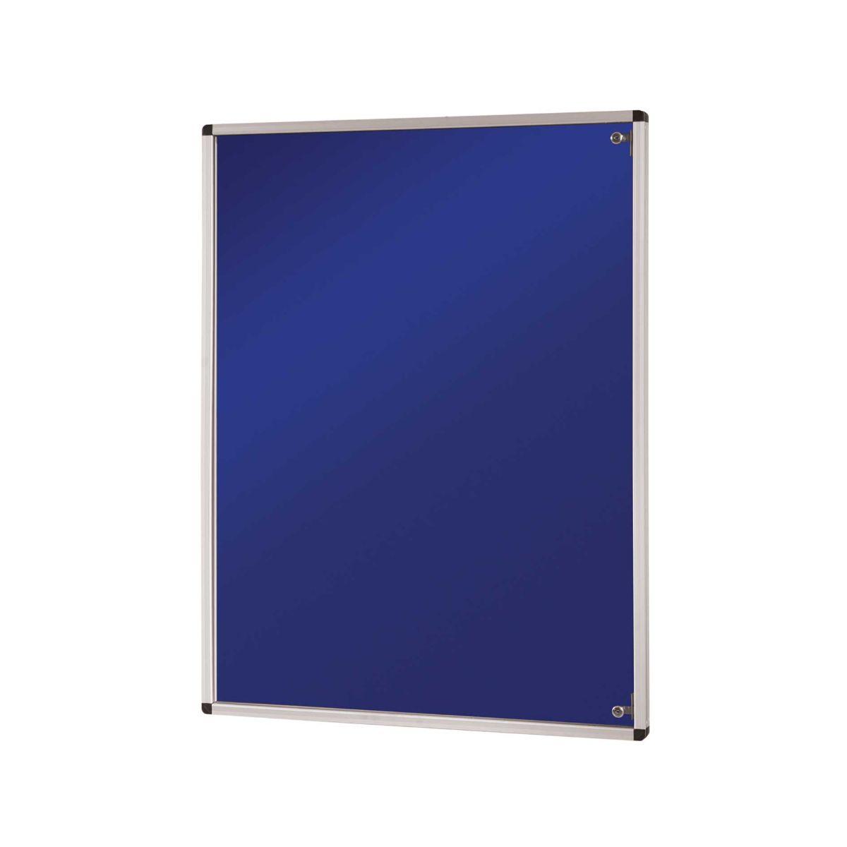 Felt tamperproof noticeboards 1200x900mm blue