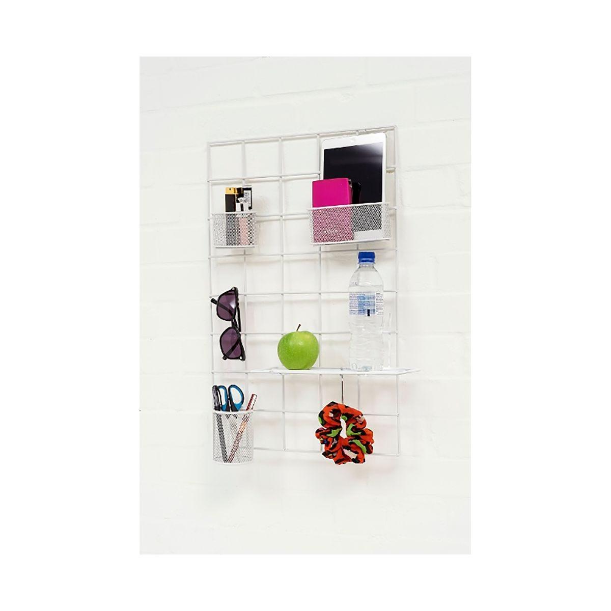 wall street space saving organiser solution kit, white