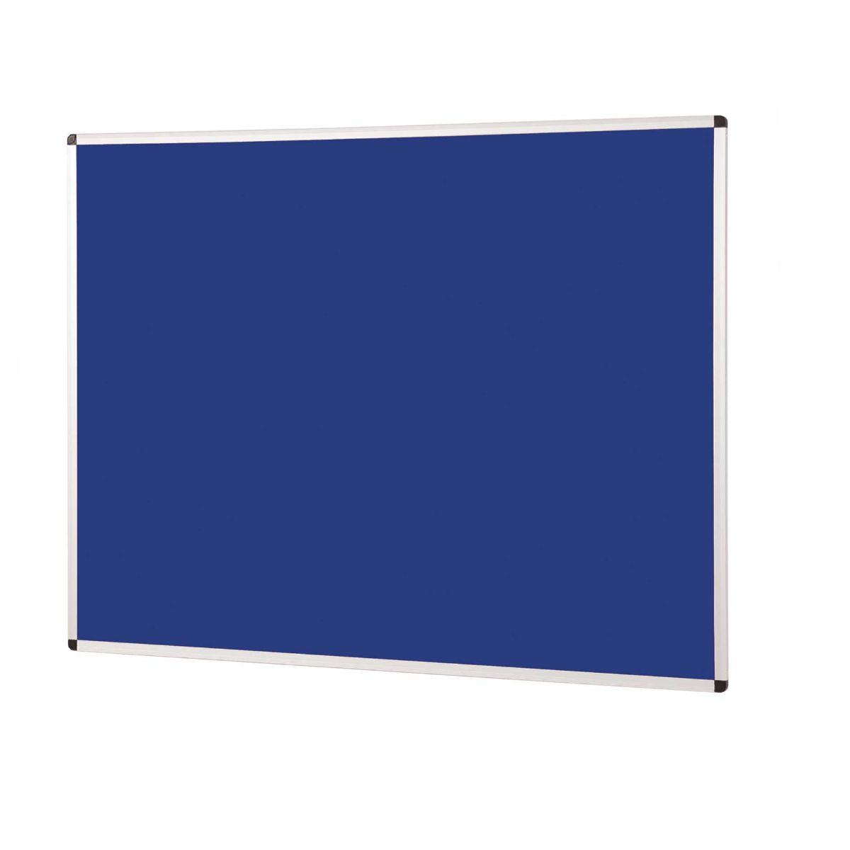 metroplan felt notice board 1200x900mm aluminium, blue