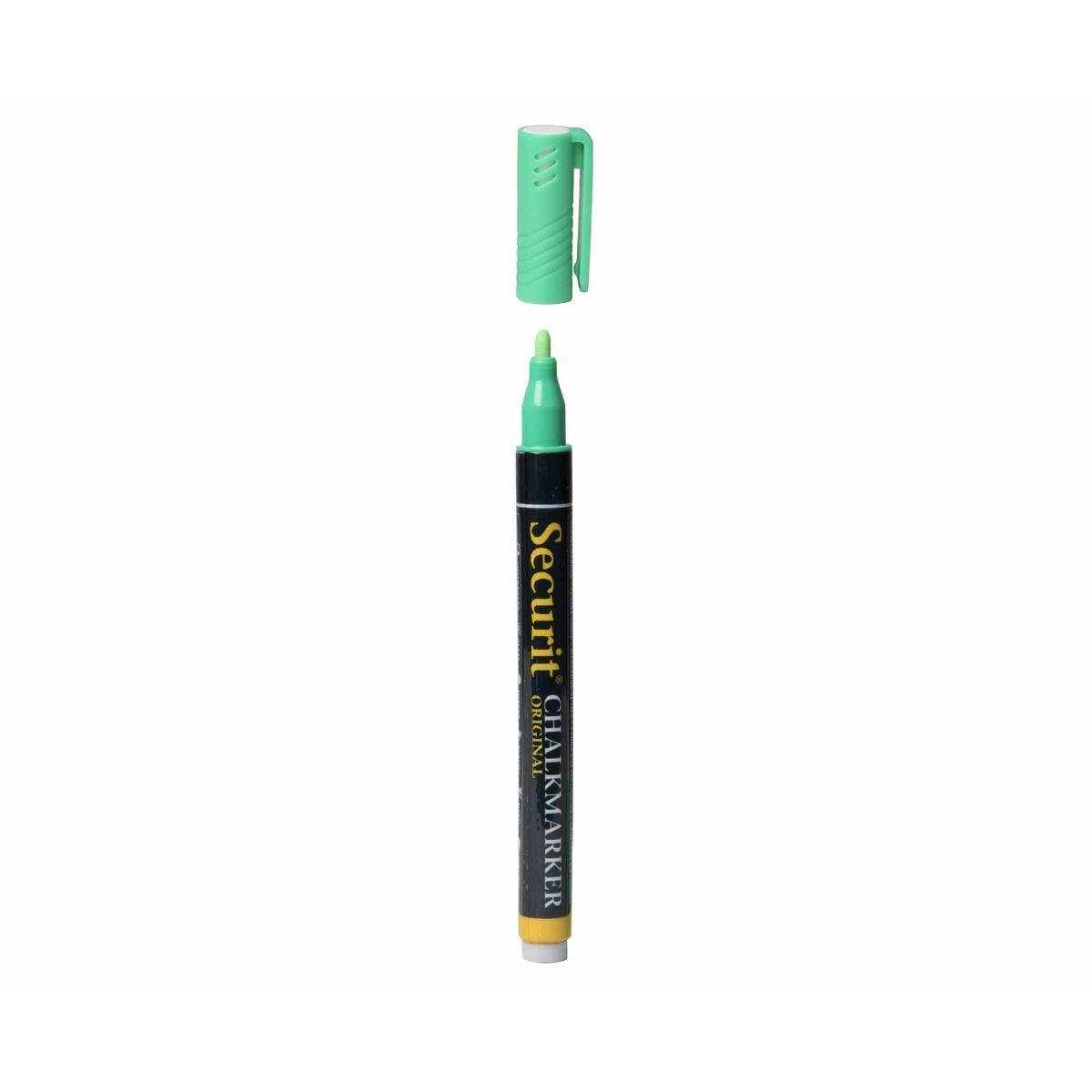 securit liquid chalk marker small, green