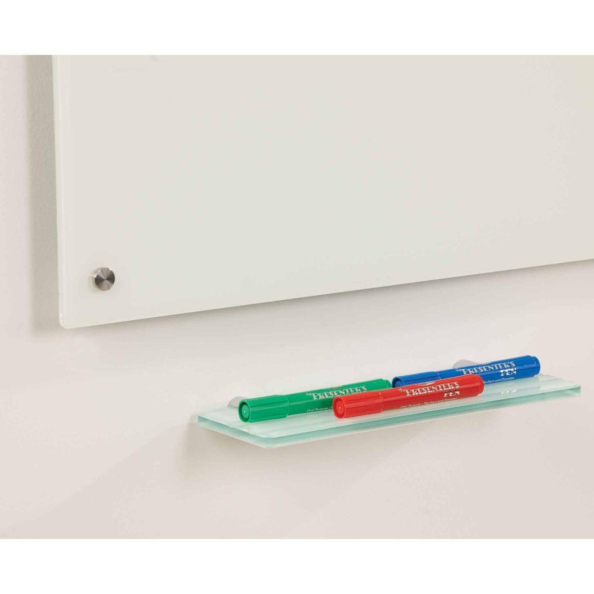metroplan writeon glass pen tray, clear