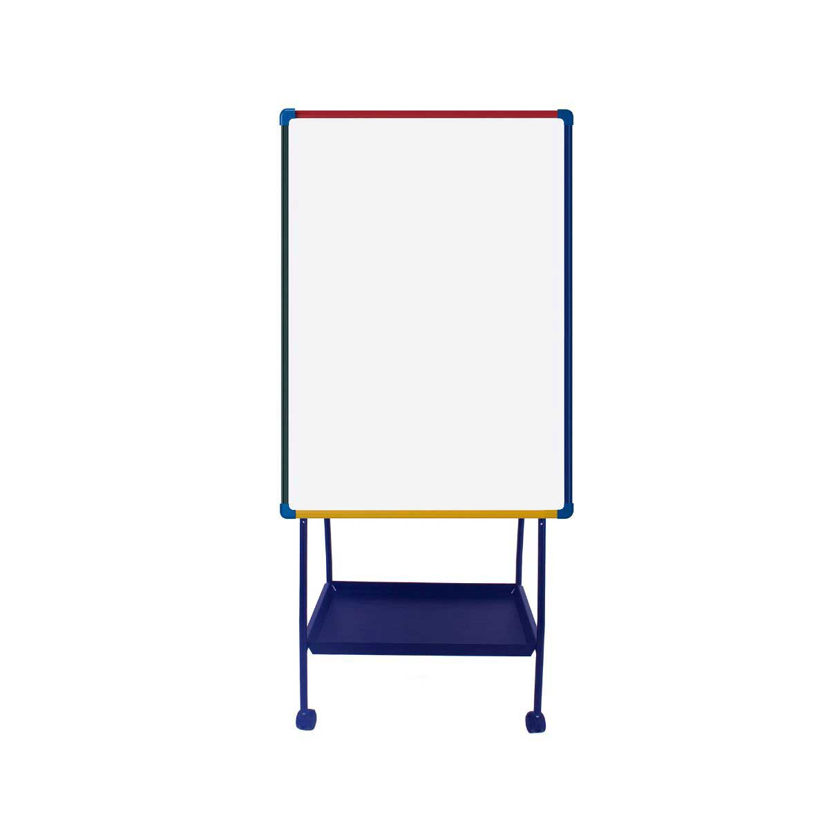 Schoolmate Mobile Dry Wipe Multi Coloured Easel.