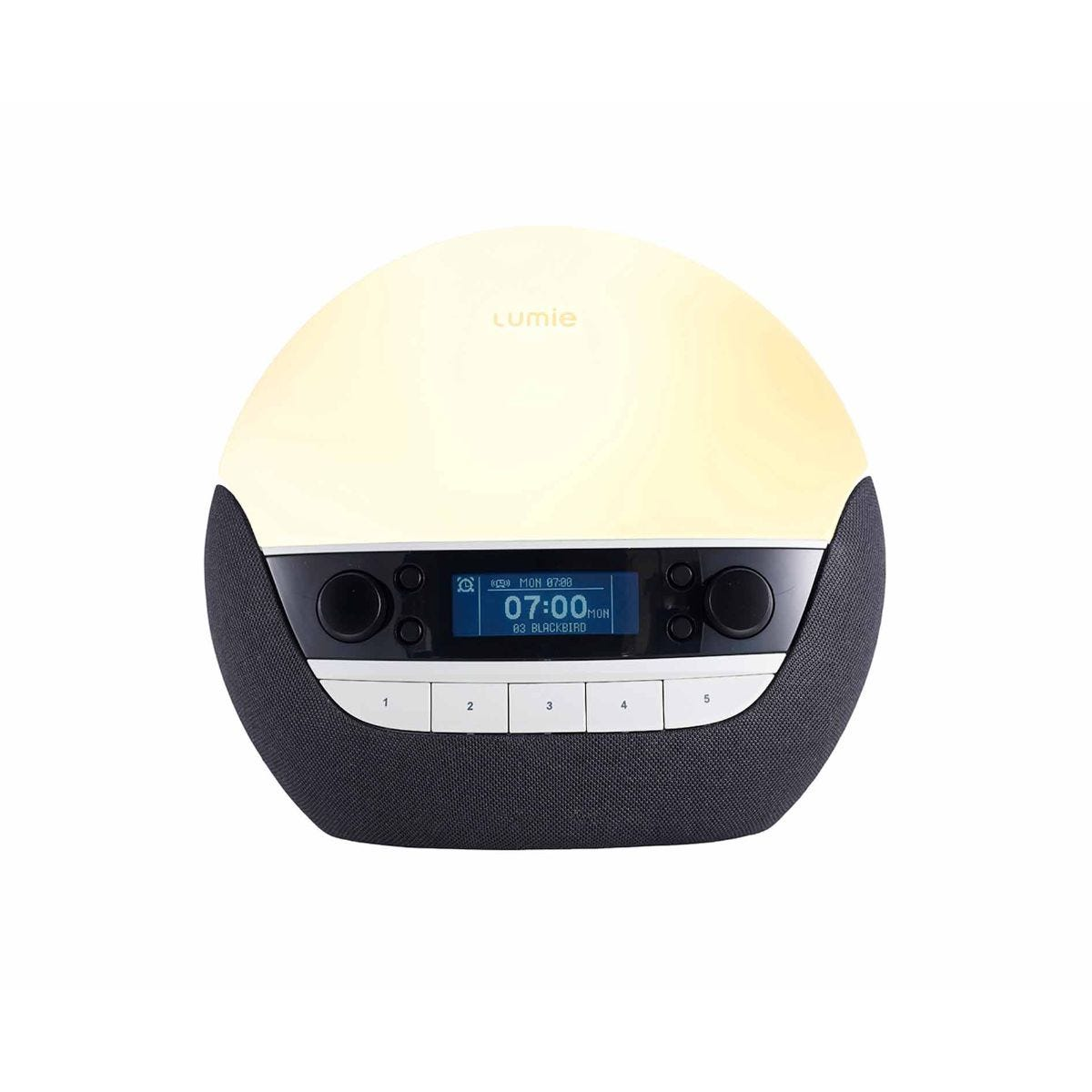 Image of Lumie Bodyclock Luxe 750D Wake-up Light Alarm Clock, Black