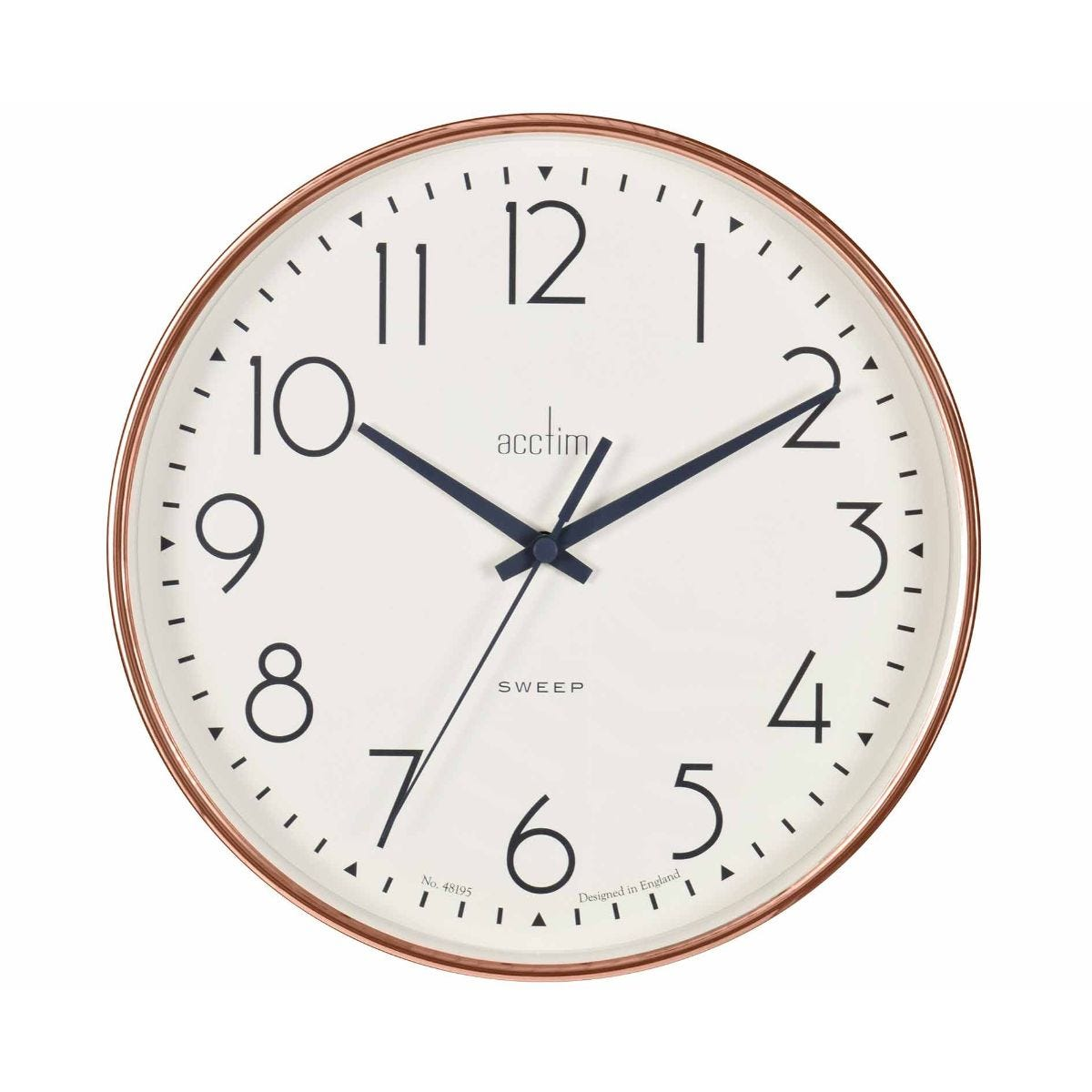 Image of Acctim Earl Rose Gold Wall Clock, Copper