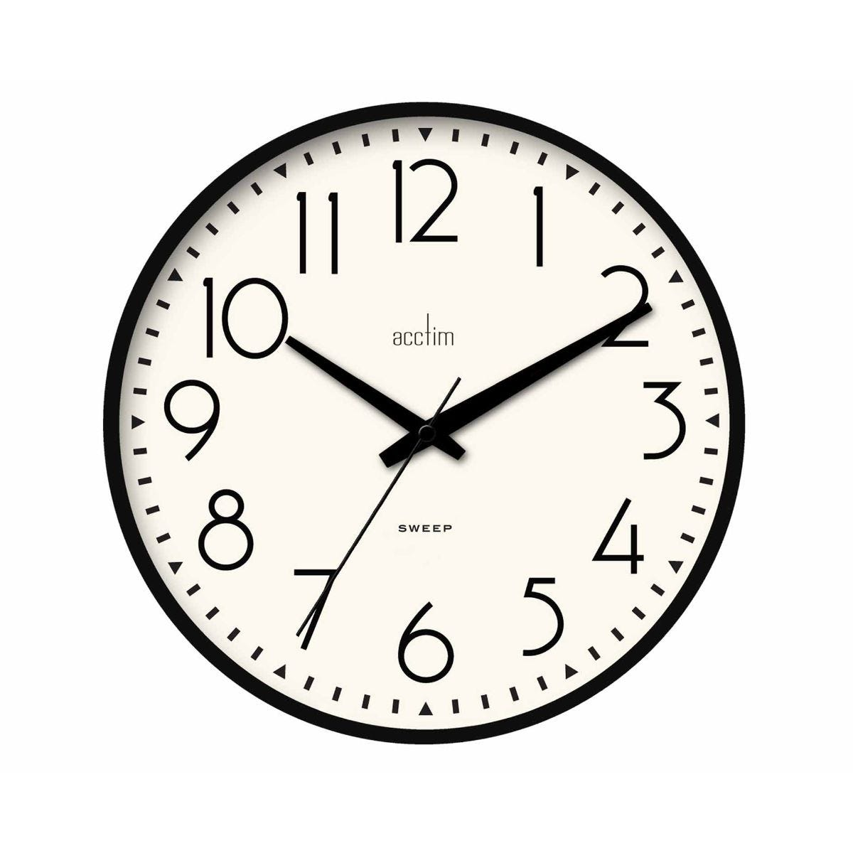 Image of Acctim Earl Black Wall Clock, Black